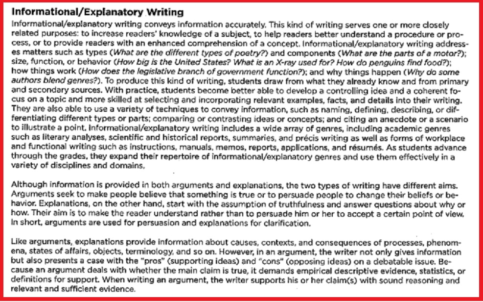 explain what it means to write an informative essay An informative essay might explain the pros and cons of the you will need to write a topic sentence for each fact and write a examples of informative essays.